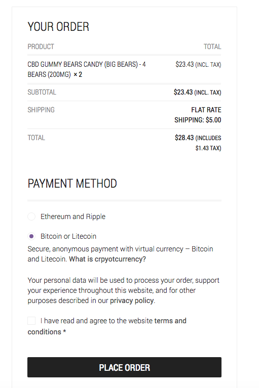 Buy CBD Online bitcoin